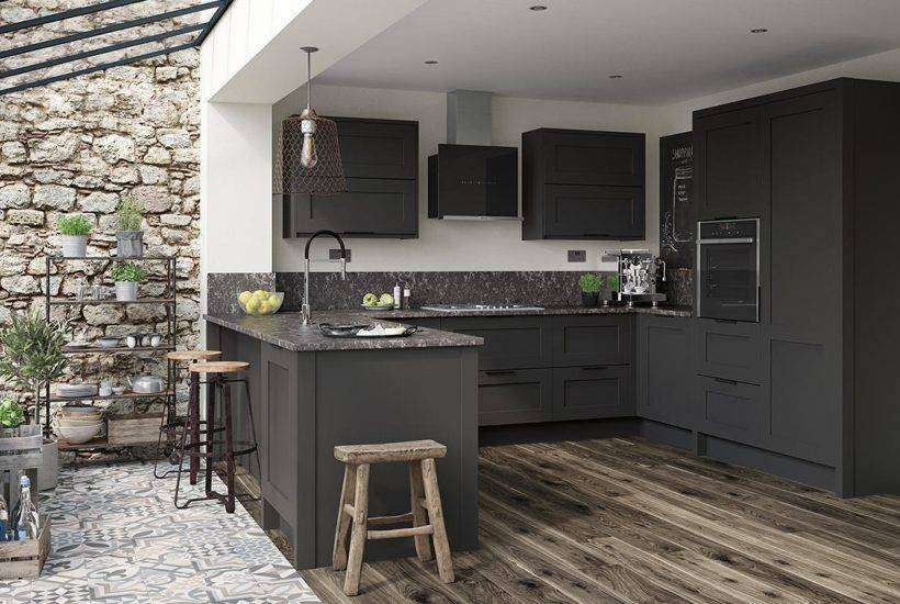 Breath-taking dark grey and marble