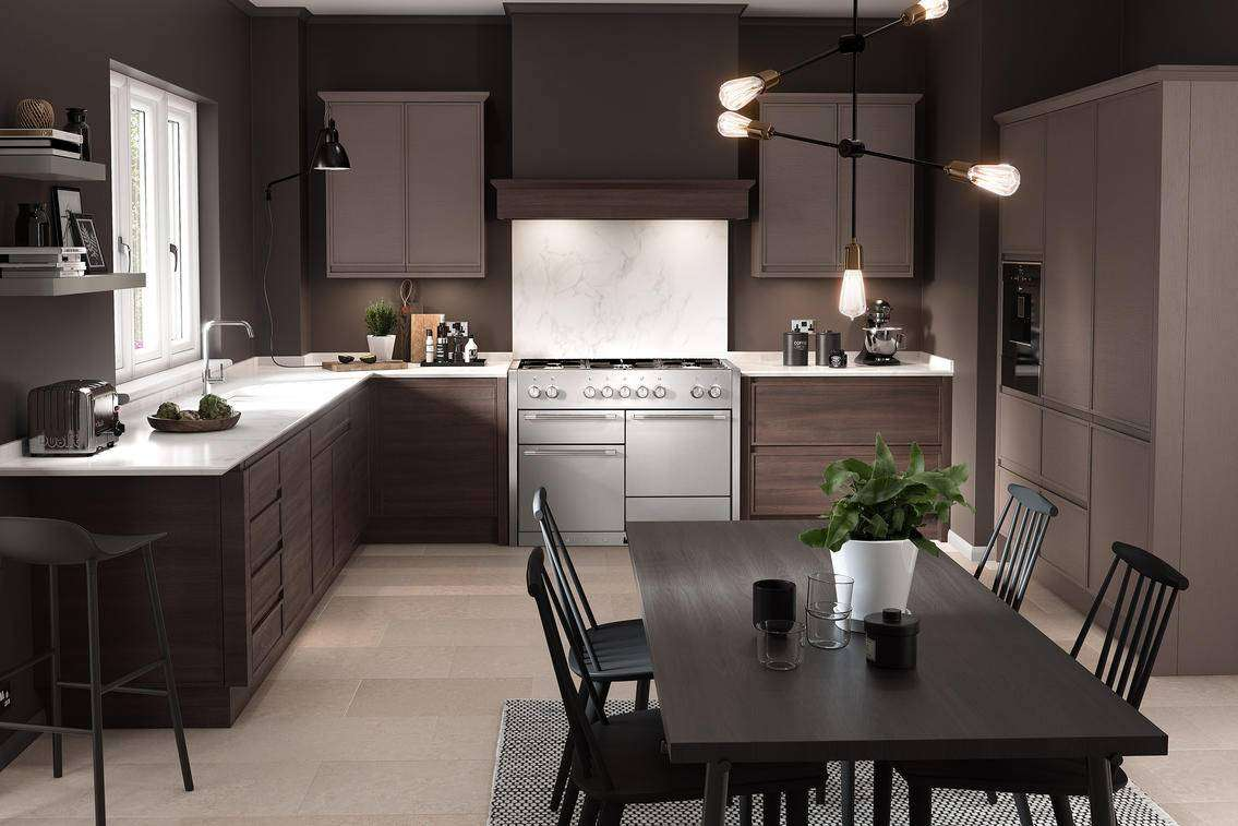 Kitchen solutions contemporary kitchens for Black contemporary kitchen